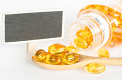 Cod liver oil omega 3 gel capsules. Royalty Free Stock Images