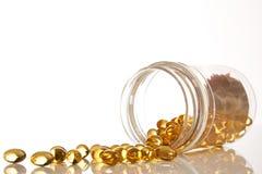 Cod liver oil omega 3 gel capsules Stock Image