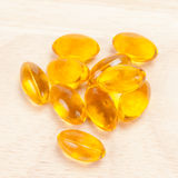 Cod liver oil omega 3 gel capsules Stock Photography