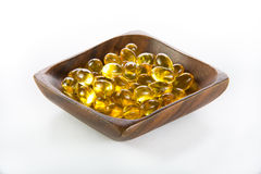 Cod-liver oil, omega3, vitamin D Royalty Free Stock Images