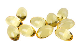 Cod liver oil tablets Stock Photos