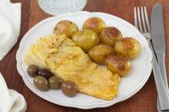 Cod with potato Royalty Free Stock Photo