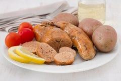 Cod roe with potato Stock Image