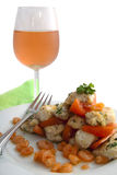 Cod with shrimp Stock Images