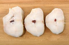 Cod steaks Stock Images