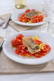 Cod with vegetables Royalty Free Stock Image