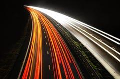 coda degli indicatori luminosi Fotografia Stock