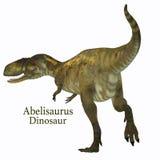 Coda del dinosauro del Abelisaurus con la fonte Immagini Stock Libere da Diritti