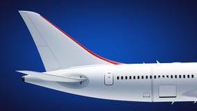 Coda dell'aeroplano Fotografie Stock Libere da Diritti