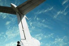 Coda dell'aeroplano Immagine Stock