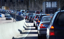 Coda di traffico Fotografia Stock