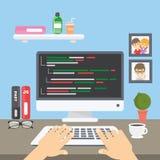 Codage bij computer vector illustratie