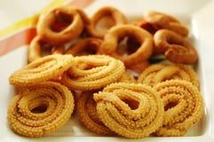 codbele ινδικό πρόχειρο φαγητό muruku Στοκ Φωτογραφία