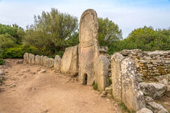 Coddu Vecchiu - Giants grave near the nuraghe Prisgiona Stock Photography