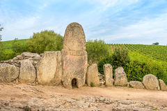 Coddu Vecchiu - Giants grave near the nuraghe Prisgiona Stock Images