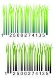 Code à barres avec l'herbe verte fraîche Photos stock