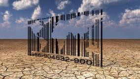 Code à barres du monde Image libre de droits