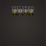 Code 2012. Title 2012 as code on black pattern background vector illustration