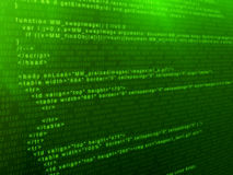 Code. 3d rendered illustration of a digital code Stock Photo