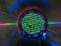 Code&cd binário Imagens de Stock Royalty Free