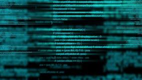 Code animé abstrait de programmation par ordinateur comme fond de technologie illustration stock