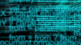 Code animé de manuscrit de programmation par ordinateur 3D comme technologie et fond d'Internet illustration de vecteur