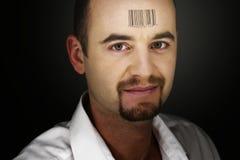 Code bar man Royalty Free Stock Photography
