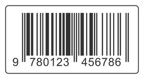 Code barres d'ISBN 13 Images stock