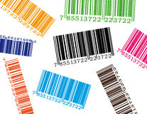 Code barres de couleur illustration stock