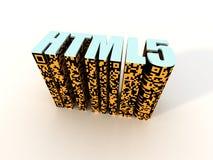 Code barres de matrice de HTML 5 Images stock