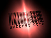 Code barres de réussite Photo stock
