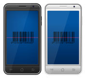 Code barres de Smartphone Photos stock