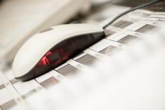 Code barres de souris d'ordinateur Images stock