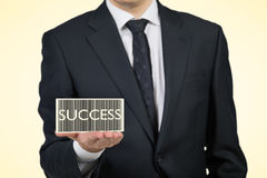 Code barres de succès Image stock