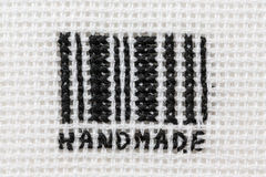 Code barres stylisé, brodé Image stock