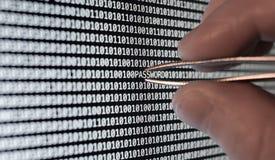 Code binaire Image stock