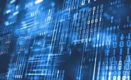 Code binaire abstrait Données de nuage Technologie de Blockchain Cyberespace de Digital illustration libre de droits