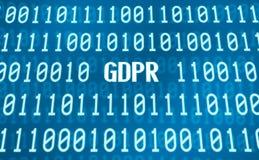Code binaire avec le mot GDPR illustration de vecteur