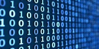Code binaire bleu, fond large illustration libre de droits