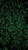 Code binaire, chiffres verts sur l'écran d'ordinateur Figures avec t illustration libre de droits