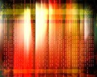 Code binaire circulant sur un rouge illustration stock