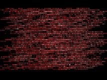 Code binaire courant un écran d'ordinateur sur le fond noir Chiffres bleus Photo libre de droits