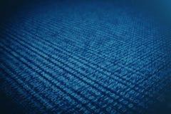 code binaire de l'illustration 3D sur le fond bleu Octets de code binaire Technologie de concept Fond binaire de Digitals illustration de vecteur