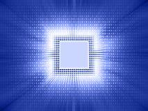 Code binaire de puce illustration de vecteur