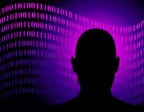Code binaire de réseau anonyme Photographie stock