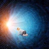 Code binaire et enfant Images libres de droits