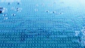 Code binaire et puce électronique de technologie Photos stock