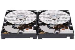 Code binaire sur deux HDD Images libres de droits
