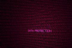 Code binaire sur l'écran avec la protection des données de mots Photos libres de droits