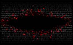 Code binaire sur v2-6 noir Image stock
